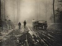 hiver au bois by léonard misonne