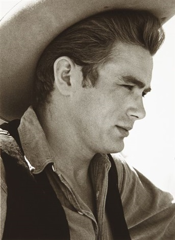 james dean on the set of the giant marfa texas by sid avery