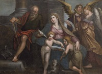sagrada familia con san juanito by flemish school (16)