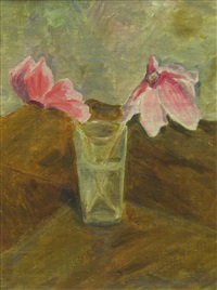 cyclamen in the glass by sabina negulescu florian