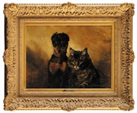 chien et chat by philippe rousseau