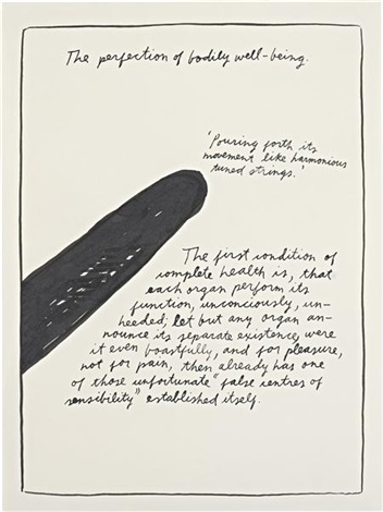 untitled the perfection of bodily well being by raymond pettibon