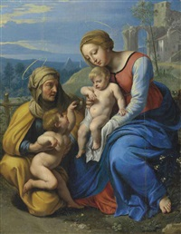 the holy family with a sparrow by philippe de champaigne