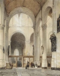 the oude kerk, delft by johannes bosboom