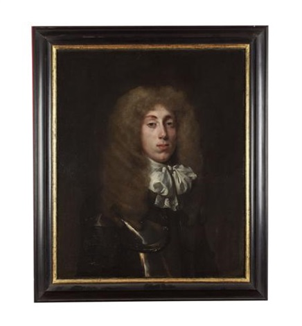 portrait of a young man in armour and white cravat by john hayls