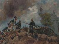 general josef sowi?ski in battle by woiciech (aldabert) ritter von kossak
