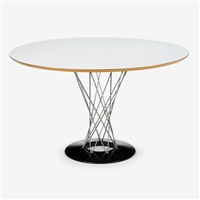 cyclone dining table and set of six stools by isamu noguchi