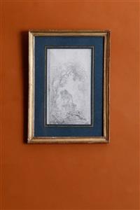 paysage avec la statue équestre de marc-aurèle by hubert robert