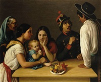 la familia mexicana (la pensativa) by josé agustín arrieta