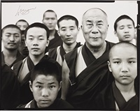 his holiness the fourteenth dalai lama, gyume tantric monastery, kamataka, india by richard avedon