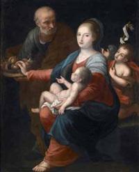 sacra famiglia con san giovannino by tommaso picenardi
