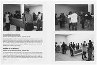 raising of six benches (kunsthalle der hypo-kulturstiftung, munich, september 2001)(2 works) by santiago sierra