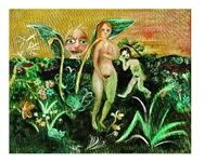 adam and eve with the garlic plant by john de burgh perceval