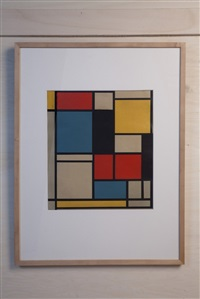 composition bleu, rouge et jaune (from der sieg der farbe) by piet mondrian