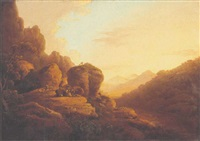 the scalp in the county of wicklow, on the estate of lord powerscourt by william ashford