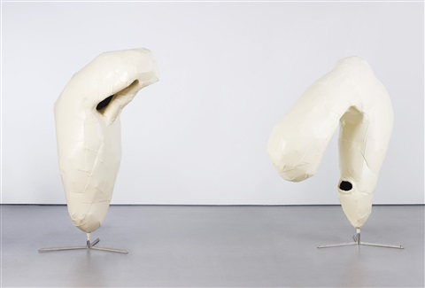 untitled (two heads) (in 2 parts) by franz west