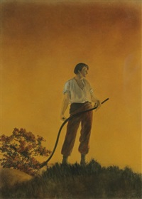 harvest by maxfield parrish
