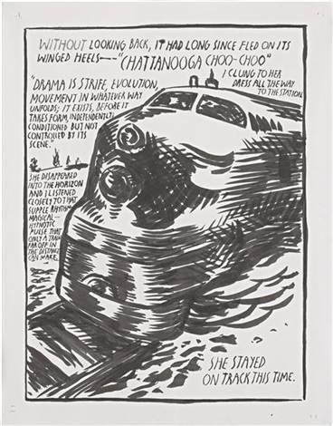untitled (without looking back...) by raymond pettibon