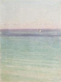 paysage marin au voilier by nikolai nikanorovich dubovskoy