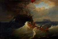retrieving the stern boat by andreas achenbach