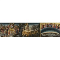the triumph of fame, the triumph of time and the triumph of eternity by domenico di michelino
