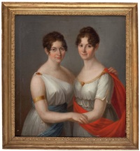 bildnis der contessa amelie la marre und tochter elisabeth by andrea appiani