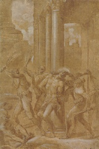 the flagellation of christ by lucio massari