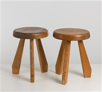 zwei hocker (pair) by charlotte perriand