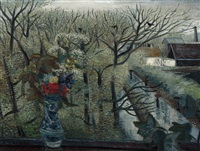 spring landscape with rain by kees andrea