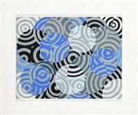 interférences en gris et bleu (no. 637) (zakłócenia w szarości i błękicie) by antonio asis