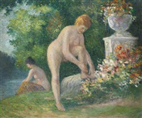 baigneuses by maximilien luce
