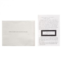 material on hubert vilopox collected by carl andre by carl andre