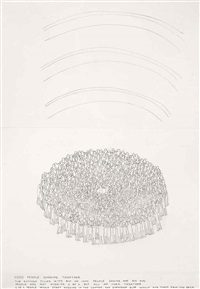1000 people hugging together by paola pivi