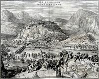 arx et oppudum montismeliani (from theatrum statuum regiae celestudinis sabaudiae ducis) by romeyn de hooghe