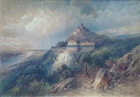 landscape with mountain house by nicolai von astudin
