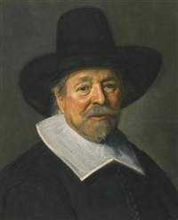 portrait of a gentleman, probably the reverend john livingston by frans hals the elder