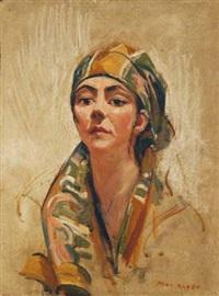 portrait of a lady (florence mcgregor ?) by mina arndt