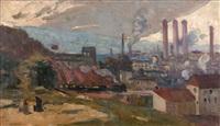 la ville industrielle qui s'éveille (study) by lucien simon