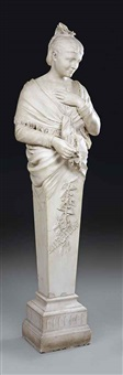 female herm figure by leopold pierre antoine savine