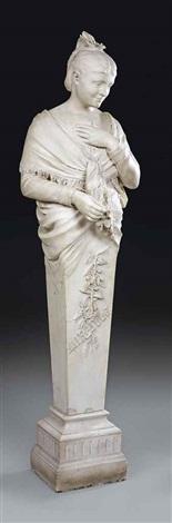 female herm figure by leopold pierre antoine savine