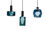 drei deckenlampen 'k2-138 by tapio wirkkala