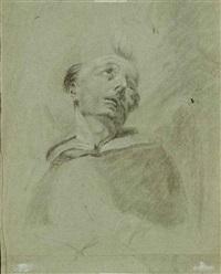 portrait d'un moine (+ tête d'un vieil homme barbu, recto/verso) by giuseppe angeli