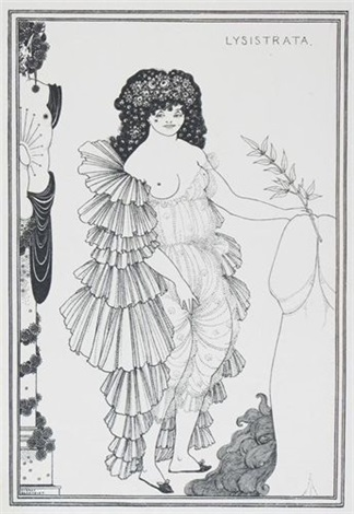 lysistrata set of 8 by aubrey vincent beardsley