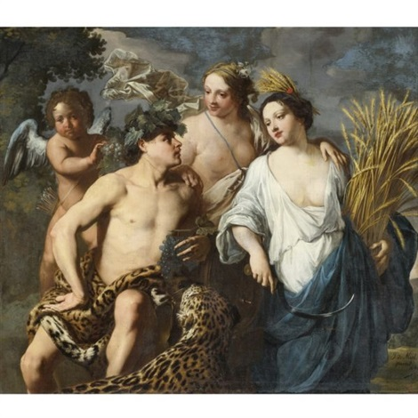 ceres, bacchus and venus (sine cerere et baccho friget venus) by jan miel