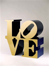 love (gold/blue) by robert indiana