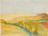 paysage by emile ancelet