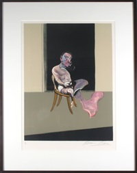 august series, triptych by francis bacon