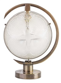 coquilles pattern opalescent glass lamp by rené lalique