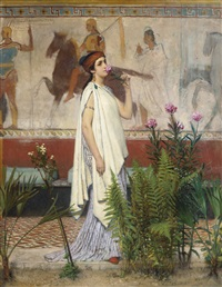 a greek woman by sir lawrence alma-tadema