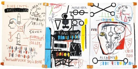 five fish species by jean michel basquiat